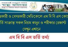 Medical college admission circular
