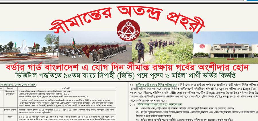 BGB Job Circular Border Guard Bangladesh Job Circular